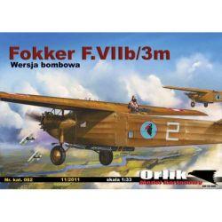 Fokker F.VIIb/3m 1/33 ORLIK 082 Pozostałe