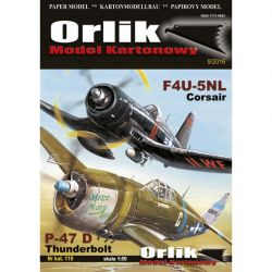 F4U-5NL Corsair & P-47 D Thunderbolt ORLIK 119 Skarpetki