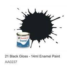 Farba Humbrol 21 Black Gloss - 14ml Enamel Paint  Wagony