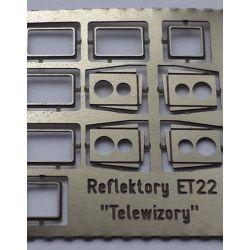"Ramki reflektorów ET22 ""telewizory""H0, OSTBAHN-Mk"