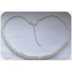 Biżuteria ślubna, śliczny komplet z pereł
