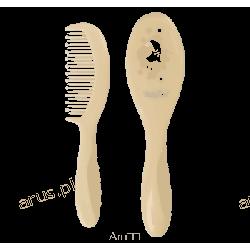 BabyOno szczoteczka z miękkim włosiem+grzebyk