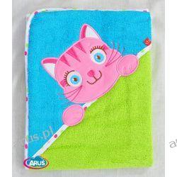 Bobas okrycie kąpielowe 100% bawełna (niebiesko zielony kotek)