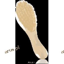 Nuk szczotka do włosów miękka naturalne włosie (różowa)