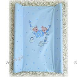 Przewijak przebierak nadstawka usztywniony 50*70 na łóżeczko i komode ( niebieskie zebry)