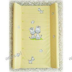 Przewijak przebierak nadstawka usztywniony 50*70 na łóżeczko i komode ( żółte zebry)