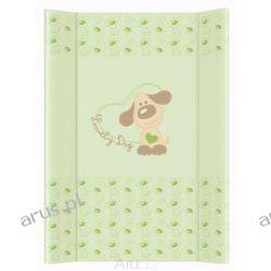 Przewijak przebierak nadstawka usztywniony 50*70 na łóżeczko i komode (lovely dog zielony)