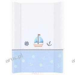 Przewijak przebierak nadstawka usztywniony 50*70 na łóżeczko i komode (marynarski biało niebieski)
