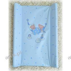 Przewijak przebierak nadstawka usztywniony 50*70 na łóżeczko i komode (niebieskie hamaki)