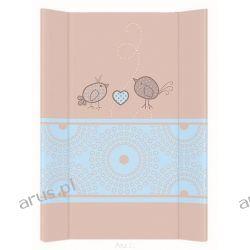 Przewijak przebierak nadstawka usztywniony 50*70 na łóżeczko i komode (ptaszki brązowe)
