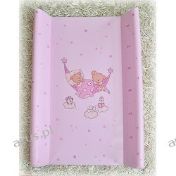 Przewijak przebierak nadstawka usztywniony 50*70 na łóżeczko i komode (różowe hamaki)