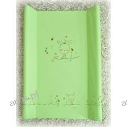 Przewijak przebierak nadstawka usztywniony 50*70 na łóżeczko i komode (zielony miś) miś)