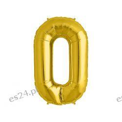 Balon foliowy Cyfra , złoty. 10 CYFR do Wyboru.
