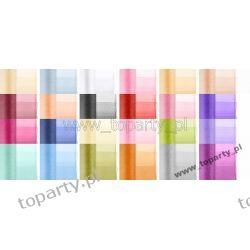 Organza Obszywana, 0,38 x 9m 25 kolorów.  Wesele