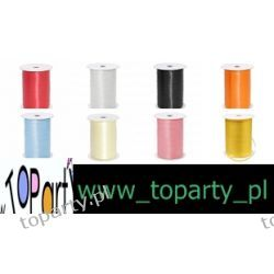 Wstążka pastelowa, 5mm x 500m. 8 kolorów. Promocja