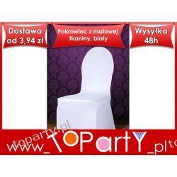 Pokrowiec na krzesło matowej tkaniny Ślub, Wesele,