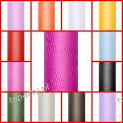 Tiul gładki 0,15 x 9m, Kolory do Wyboru do Koloru.