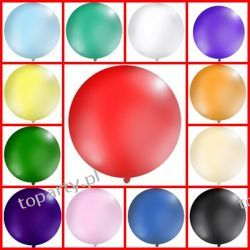 Balon 1m okrągły, 17 kolorów  do Wyboru Promocja