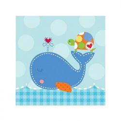 "Serwetki Ahoy Baby Blue, 25 x 25cm, 1op."""