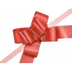 Wstążki ściągane malowane, czerwony, 5cm, 1op.
