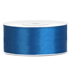 Tasiemka satynowa, niebieski, 25mm/25m, 1szt.