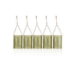 Puszki dekoracyjne, złoty, 10 x 7cm, 1op.