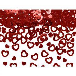 Konfetti metalizowane Serca, czerwony, 15g, 1op.
