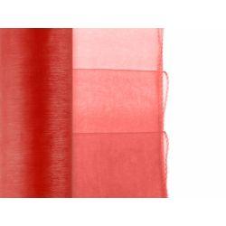 Organza Obszywana, czerwony, 0,38 x 9m, Wesele.