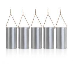 Puszki dekoracyjne, srebrny, 14 x 7cm, 1op. Ślub.