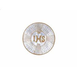 """Emblemat IHS, biały i złoty, 1szt."""
