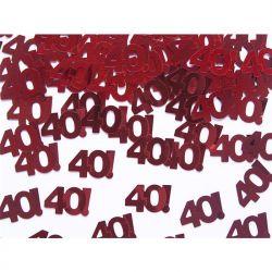 Konfetti metalizowane, liczba 40, 15g, 1op.