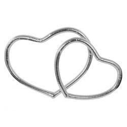 Serca metalizowane, srebrny, 1op.  Ślub, Wesele.
