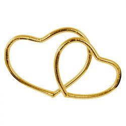 Serca metalizowane, złoty, 1op. Ślub, Wesele.