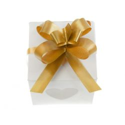 Wstążki ściągane malowane, złoty, 1cm, 1op.