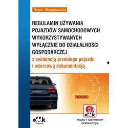 Regulamin używania pojazdów samochodowych wykorzys