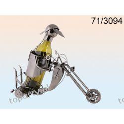 Stojak na wino motocyklista. Prezent dla fana motocykli.