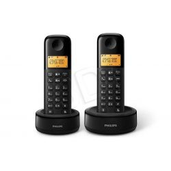 Philips Telefon bezprzewodowy D1302B / 53 czarny...