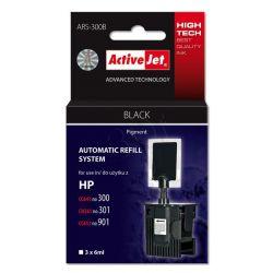 ActiveJet automatyczny system napełniania ARS-300Bk kolor czarny do HP 300 / 301 / 901 3x6ml...