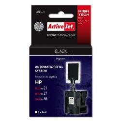 ActiveJet automatyczny system napełniania ARS-21 kolor czarny do HP 21 / 27 / 56 3x6ml...