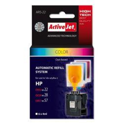 ActiveJet automatyczny system napełniania ARS-22 trójkolorowy do HP 22 / 28 / 57 6x4ml...