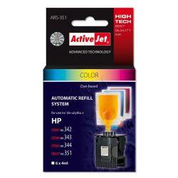 ActiveJet automatyczny system napełniania ARS-351 trójkolorowy do HP 342 / 343 / 344 / 351 6x4ml...