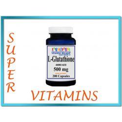 L-Glutathione GLUTATION 500mg 200 kaps ODTRUWANIE