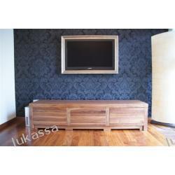 komoda RTV -orzech amerykański;lite drewno