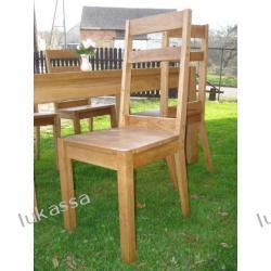 krzesła drewniane lite drewno dąb