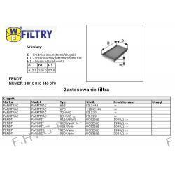 Wkład filtra kabiny SĘDZISZÓW-WA55-350/ FENDT NUMER:H816810140070,H916810140070 ,MANN -CU 4197