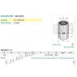 FILTR HYDRAULICZNY MANN-WH 1257/1.ŁADOWARKO-KOPARKI CATERPILLAR MODELE:432 E (BXE1->)/ 428 E (SNL1->)/SERIA:400/600/800/900/TH Myjki ciśnieniowe