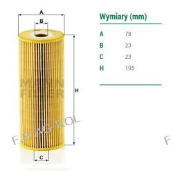 Filtr oleju MANN-HU 947/1X zastosowanie: MERCEDES-BENZ 814,817,914,917,1117,1120,1320,1520,1524.CLAAS-DOMINATOR,JAGUAR
