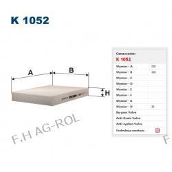 Filtr kabinowy K 1052 zastosowanie: NISSAN-KUBISTAR1.5 dCiK9K2003/9 ->,RENAULTMEGANE I1.9 DTIF9Q1999/3 -> ,RENAULTKANGOO1.9 dTiF7Q7802000/3 ->