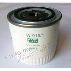 Filtr oleju MANN-W916/1 zastosowanie: JCB NR:32/910700, NEW HOLLAND NR:,FORD Części do maszyn rolniczych