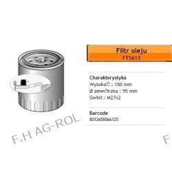 Filtr oleju FIAAM FT5613 zamiennik:IVECO-2992242 , 504033399 , 504074043. MANN-W950/26 . CUMMINS-4989314